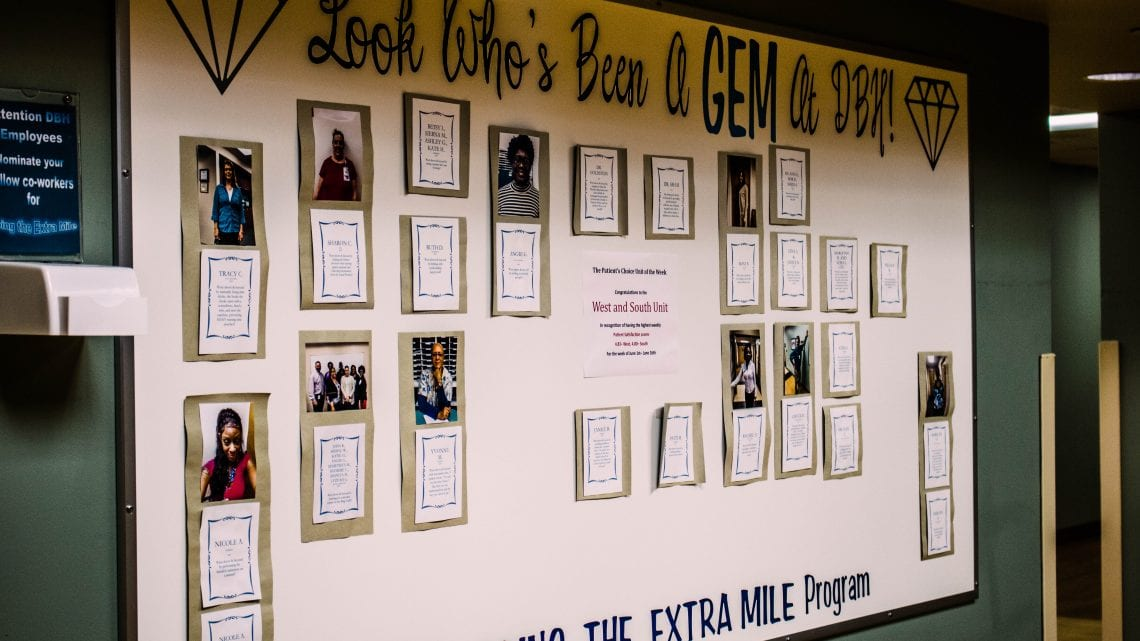 Dover Behavioral Health System Employee Appreciation Wall